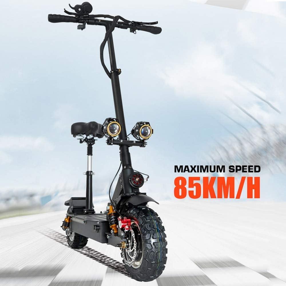 Neumático Todoterreno De Doble Tracción De 11 Pulgadas Potente Scooter De Movilidad Eléctrica De Motocicleta Plegable para Adultos De 3200 W con Asiento,20Ah