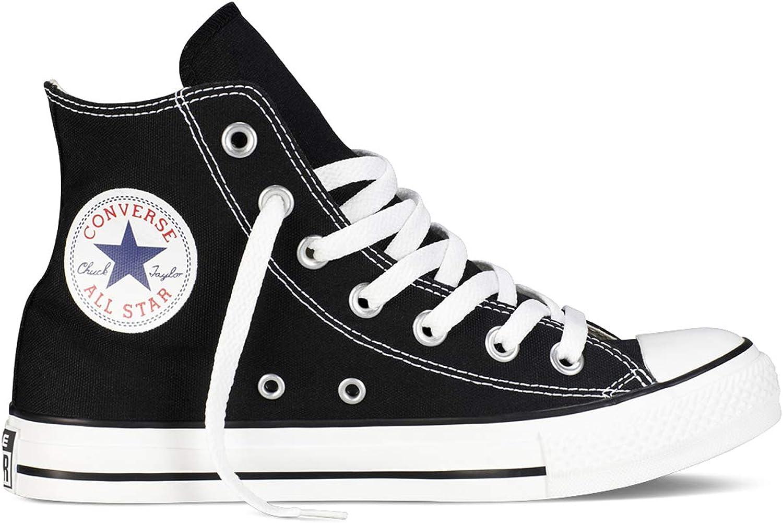 Converse Chuck Taylor All Star High Classic CTAS Hi Unisex Zapatillas de Lona con una Pegatina de 7kmh