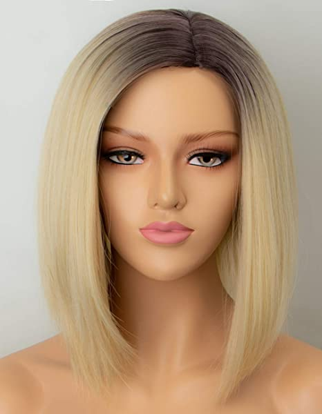 Persephone Blonde Bob Wig Synthetic with