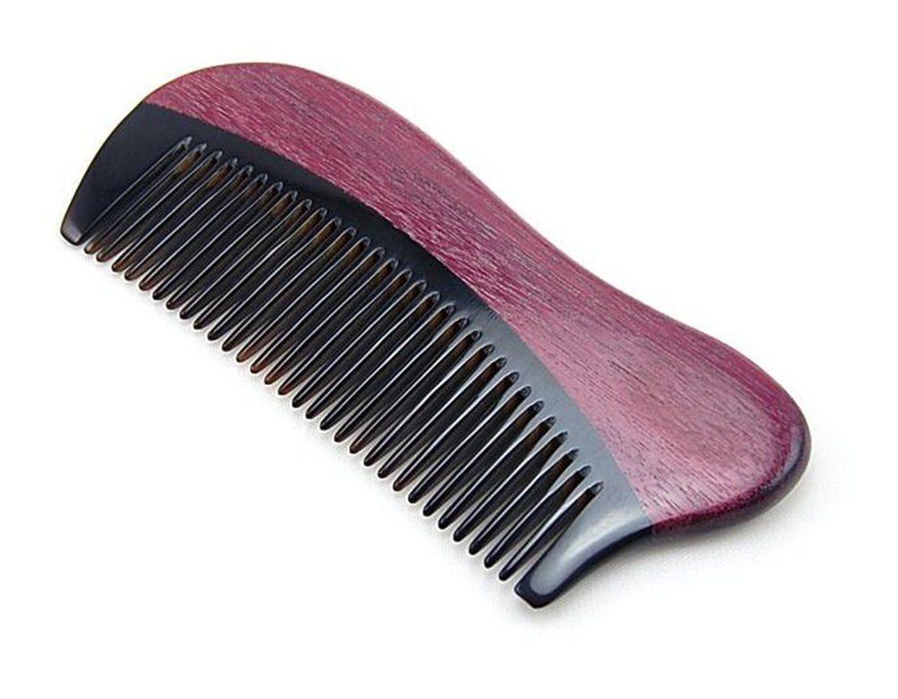 1xToruiwa Comb Natural Green Sandalwood Wooden Comb Anti-Static Comb Festival Gift (Coffee)