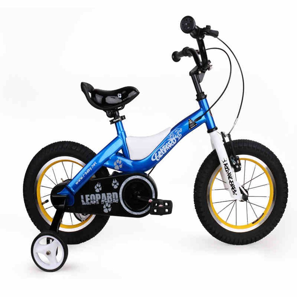 XQ TR-433青い子供の自転車キッズ自転車3-8歳の少年少女の乗馬の安全安定した14インチ、103 * 17.5 * 55センチメートル 子ども用自転車 ( 色 : Blue-14inch ) B07C5NW5YD Blue-14inch Blue-14inch