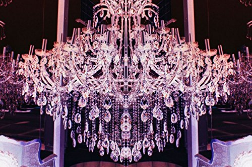 Fluorescent Palace Goddess Glamour Reverse Artwork,