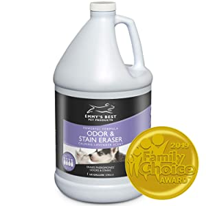 Emmy's Best Powerful Pet Odor Remover Color Saver and Urine Eliminator Deodorizer Exclusive Enzyme Carpet Cleaner Solution Takes Out Tough Stains, Odors