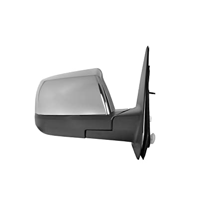 Passenger Side Chrome Power Folding Power Operated Heated Mirror w/Signal Light, Puddle Lamp, Memory for 07-13 Toyota Tundra Limited, 08-11 Sequoia Limited/Platinum - TO1321270: Automotive