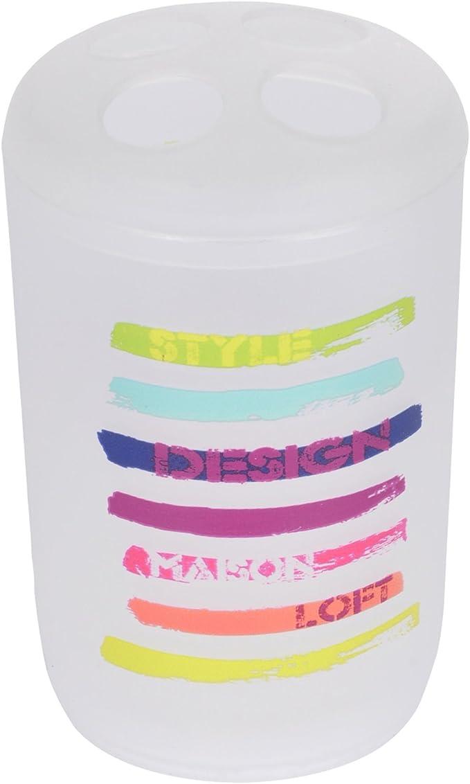 Douceur d Interieur 6/asb331/Vaso Porta Cepillo de Dientes Polipropileno New Life Design 7/X 7/X 11/cm