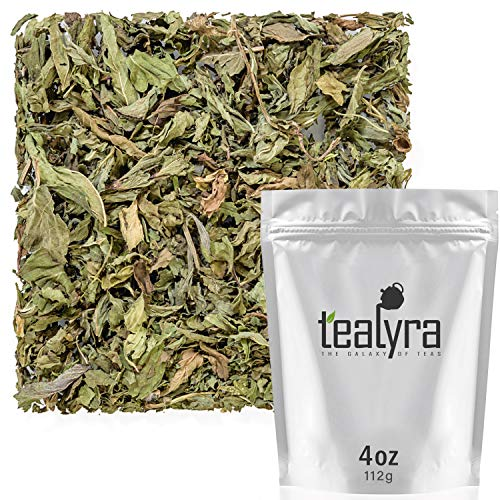 Tealyra - Pacific Coast Mint - Peppermint and Spearmint - Minty Wellness Herbal Loose Leaf Tea - Relaxing - Hot and Iced - Vitamins and Antioxidants Rich - Caffeine Free - All Natural - 112g (4-ounce)