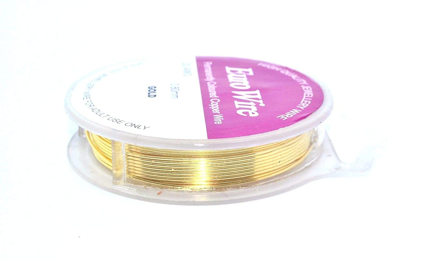 6 metres x 0.8mm (20 ga) Gold Colour Wire - Non Tarnish Craft And Jewellery Making Copper Wire - Bead Boutique