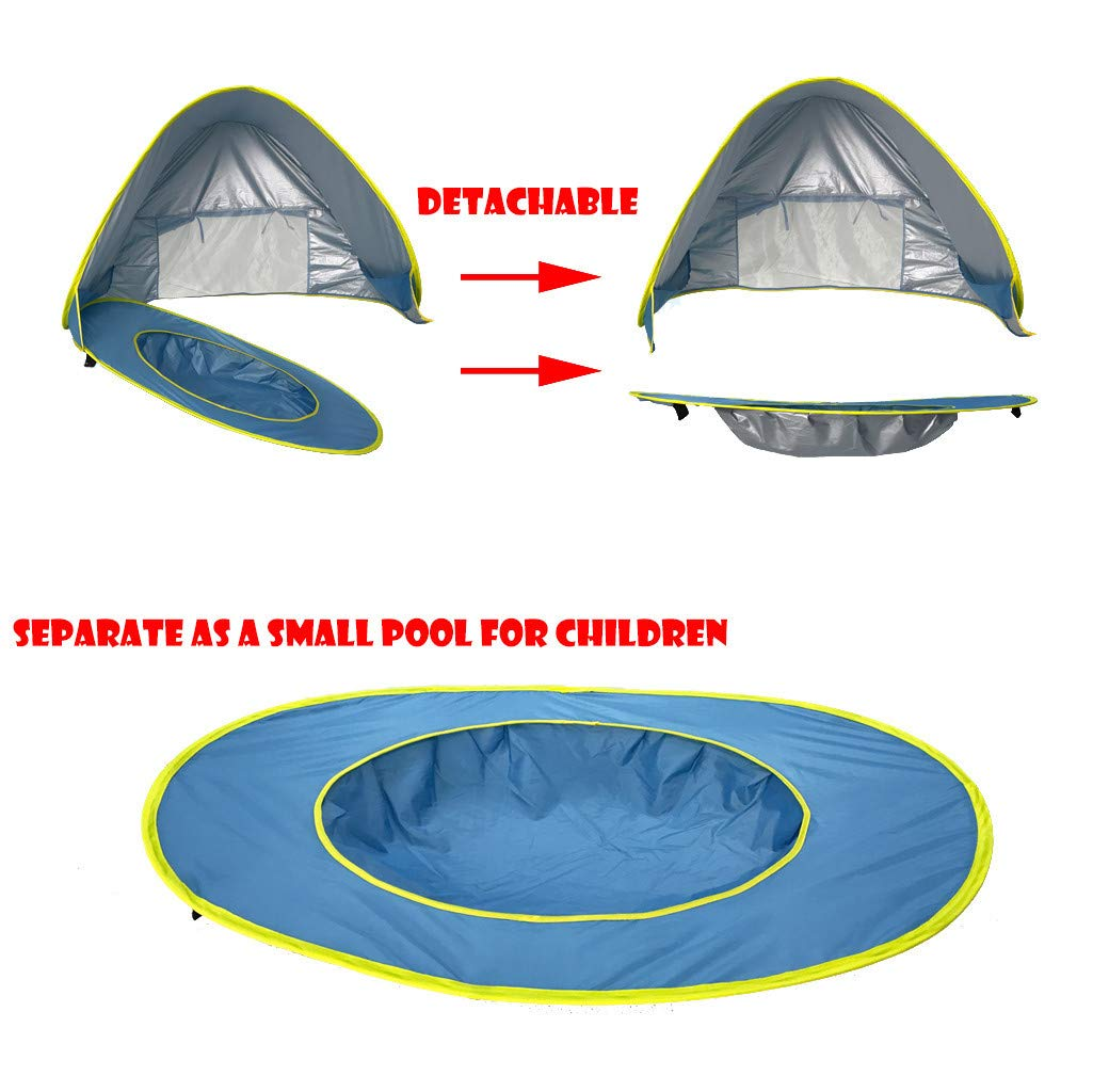 Ikevan/_ Portable Baby Beach Tent Up Shade Pool UV Protection Sun Shelter for Infant Kid Boy Girl Shipping from USA