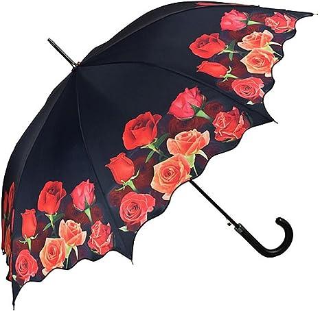 VON LILIENFELD Parapluie Automatique Femme Motif Floral Bouquet de Roses