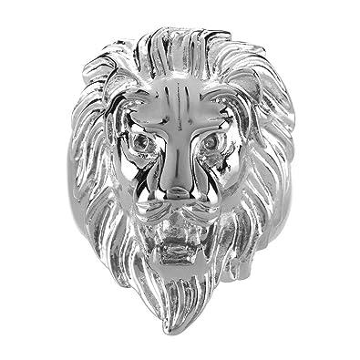 775e0717d60 BOBIJOO Jewelry - Bague Chevalière Homme Tête de Lion Gipsy Gitan Forain  Acier Plaqué Or Argenté