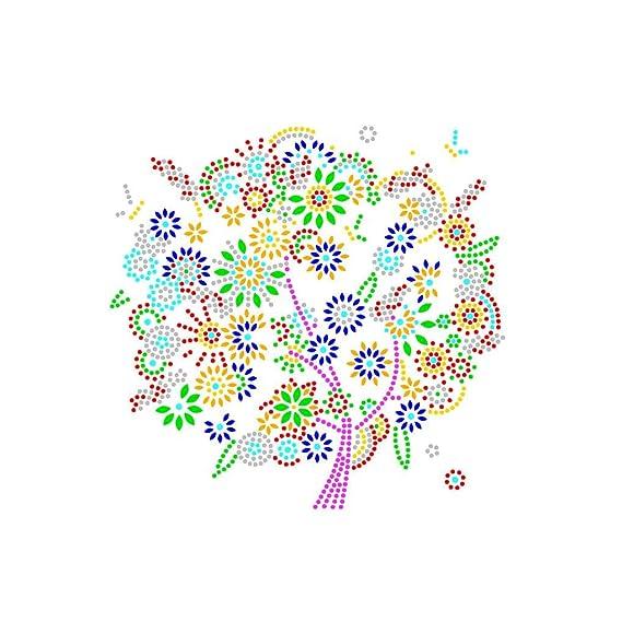 Cdrox DIY del Rhinestone de Cuatro Estaciones Árbol Pintura Cristal árbol otoño Invierno Bordado de Punto de Cruz Fotos Diamond Decoración: Amazon.es: Hogar