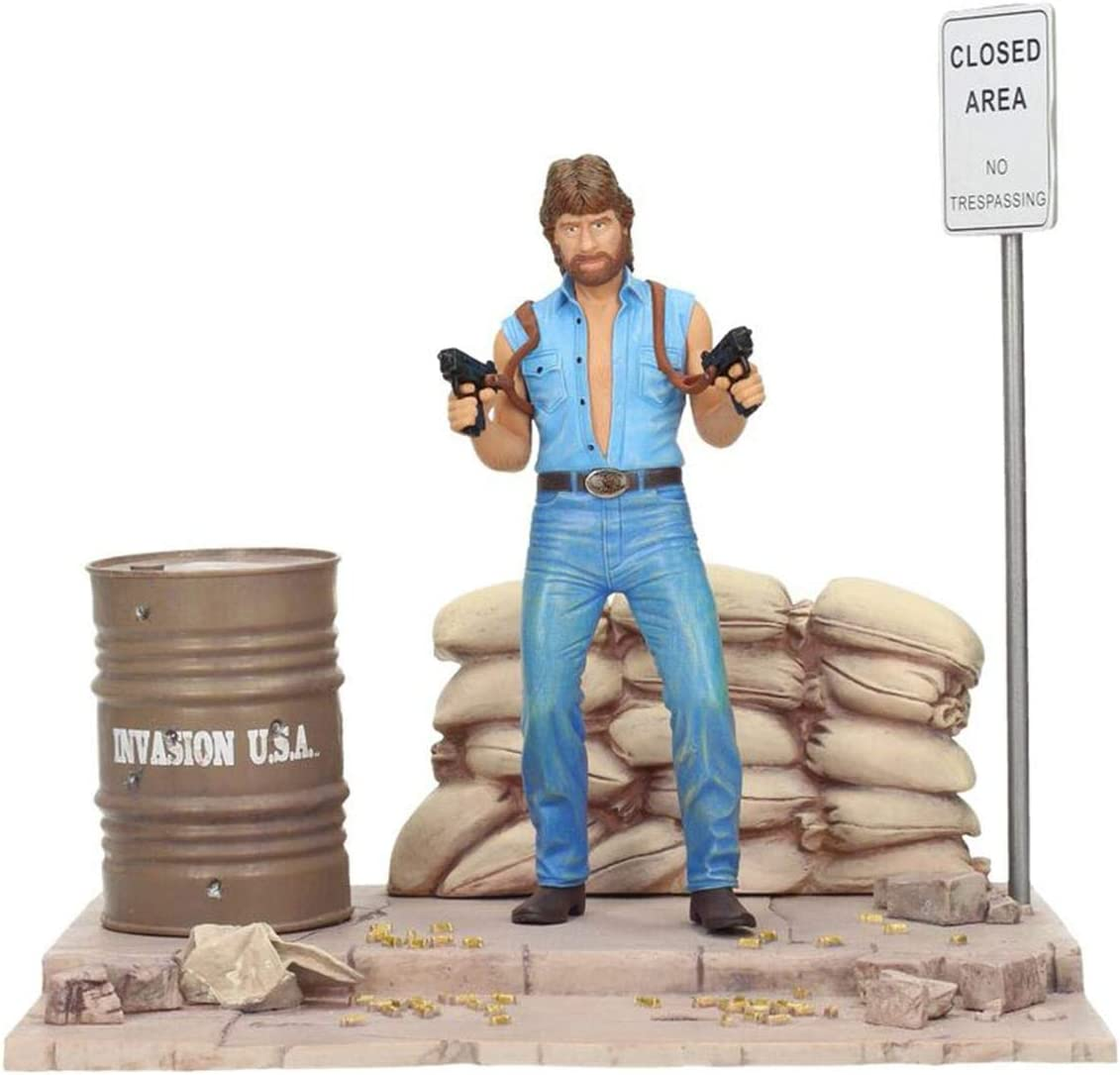 0cm x 18cm Deluxe Set Figur Matt Hunter Close Up Chuck Norris Invasion U.S.A