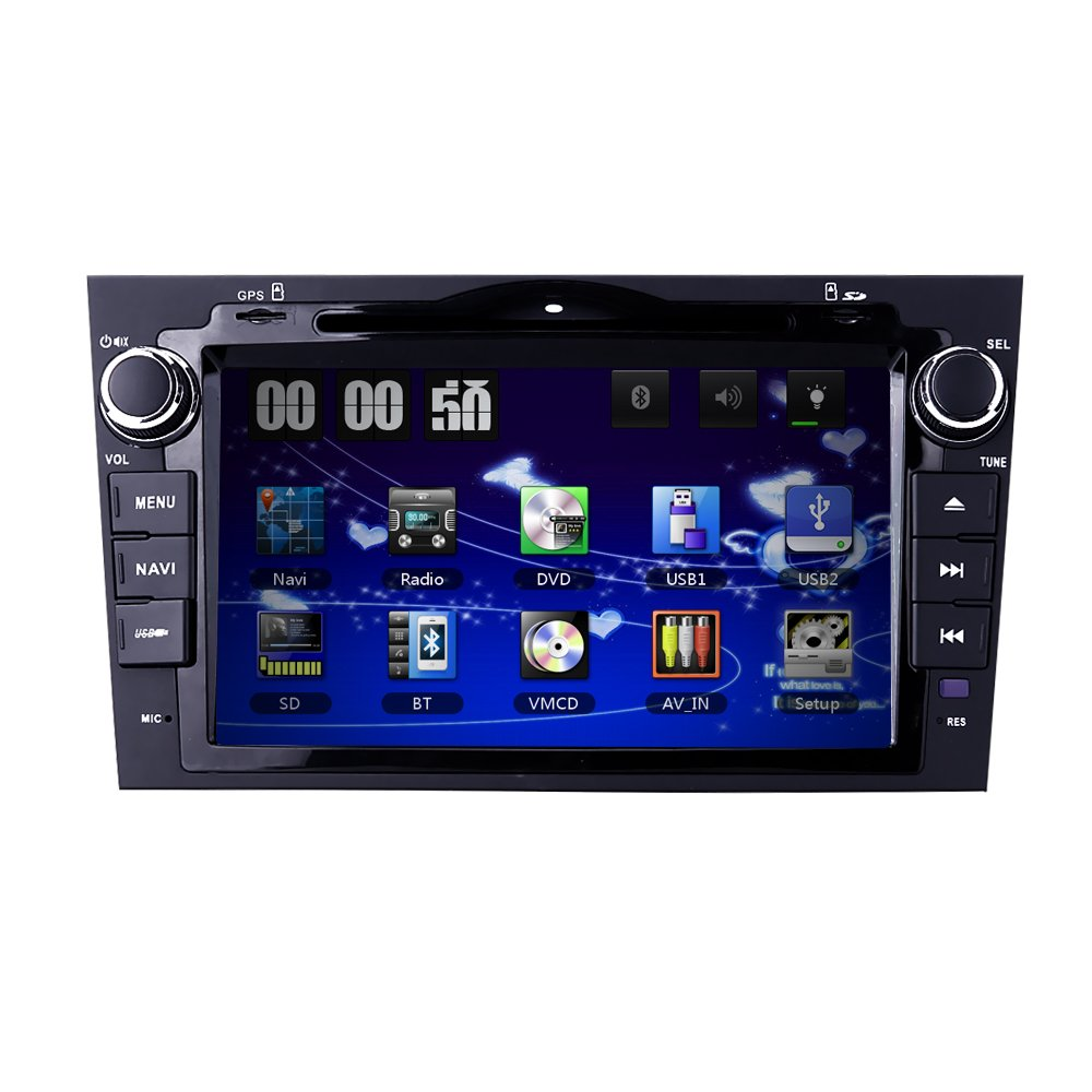 8 Inch for HONDA CRV CR-V 2007 2008 2009 2010 2011 In Dash HD Touch Screen Car DVD Player GPS Navigation Stereo Bluetooth/SD/USB/Ipod/FM/AM Radio/3G/AV-IN/1080P North America Map by HIZPO