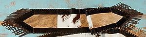 BLACK FOREST DECOR Plain Cowhide Table Runner