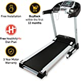 FitPro LLTM36 Motorised Treadmill (3.0 HP Peak) with Auto Incline and Auto Lubrication, Speakers, Diet Plan, Android & IOS App, Max Speed 14km/hr (Free Installation)