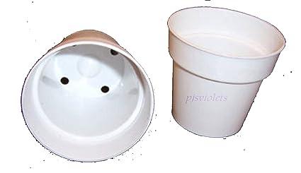 Amazon white plastic flower pot 2 14 w x 2 h 25 pack white plastic flower pot 2 14quot w x 2quot mightylinksfo
