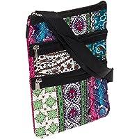 Womens Chevron 9 inch Crossbody Swingpack Bag (Boho w/Black Trim)