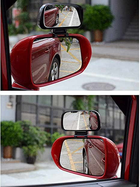 Btbtoc Car Blind Spot Mirror Adjustable Rotation Rear View Mirror Wide Angle Lens For Car Parking Auxiliary
