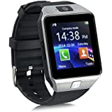 Eeoo Bluetooth Camera Smart Wrist Watch Phone with SIM Card Slot 2.0 Camera TF Card Support For Android Samsung Htc Smartphone Silver