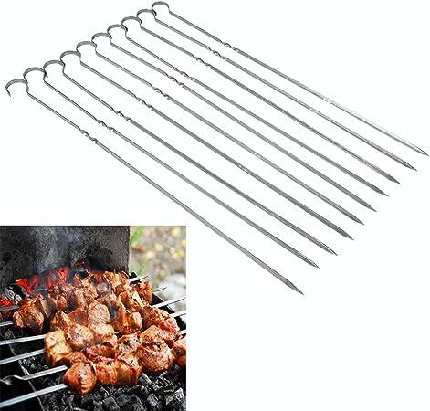 set serie 5 pezzi spiedini da cm 39 barbecue acciaio Spiedino arrosti brace