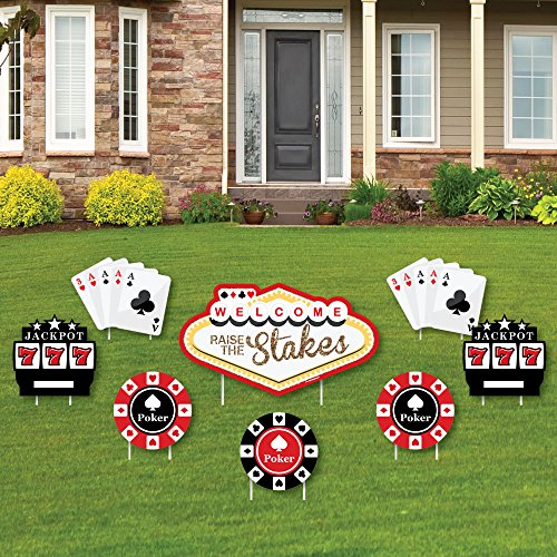 Las Vegas - Yard Sign & Outdoor Lawn Decorations - Casino Party Yard Signs - Set of 8]()