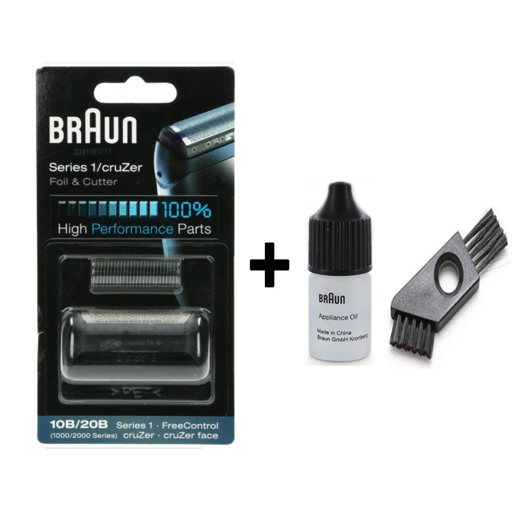 Braun Accessory, Series 5 Combi 51S Silver with Cleaning Brush and Braun Oil