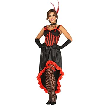 f46e50e908c Adult Black   Red Can Can Saloon Moulin Rouge Fancy Dress Costume 12-14 Size