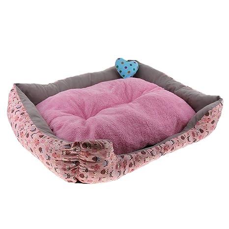 Sharplace Cojín Saco Dormir Sofá Cama Perro Gato Nido Invierno de Animal Doméstico Cómodo - Rosa