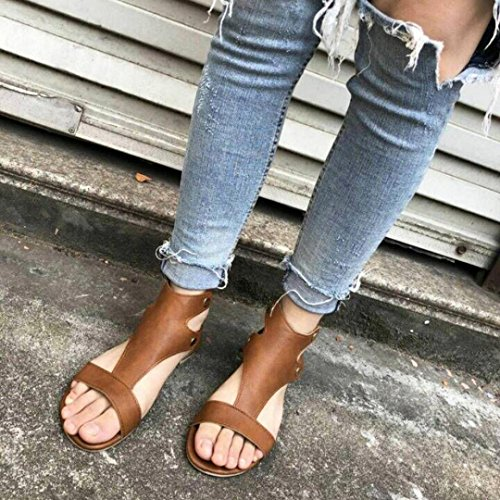 Lolittas Flat Gladiator Roman Sandals Womens Ladies,Summer Hiking Flat Glitter Sequin Open Peep Toe Slingback Lace up Wide Fit Wedge Shoes Size 2-7 Coffee