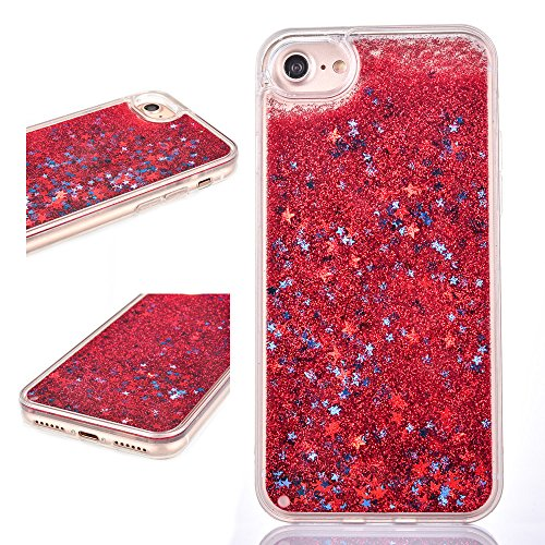 Rejected all traditions 3D Bling Dynamic Sparkle Stars Liquid Water Glitter Quicksand Hard Back + Soft TPU bumper Perfect protection Case For iPhone 7 Plus 5.5 inch - ()