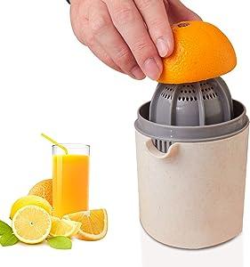 Citrus Lemon Orange Juicer Manual Hand Squeezer Lime Juicer Manual Citrus Press Juicer with Strainer and Container- JH JIEMEI HOME