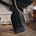 Silicone Spatula Set 5 piece Heat-Resistant Spatulas Baking Spoons Silicone Brush Safe Soft and Non-stick Flexible Rubber Spatulas,Versatile Tools Created for Cooking, Baking and Mixing | One Piece De 12 ★ HIGH QUALITY--Silicone cooking utensils are 100% FDA Grade and BPA Free.These heat resistant cooking tools can be used up to 446oF and are non -stick friendly.And they 're stain and odor resistant.They simply won't discolor,warp,melt or chip. ★ SCRATCH RESISTANT & PREVENTION--Non-stick hygienic silicone coating that allow you to stir,mix,grill,flip,and fry directly in your fancy pots and pans without fear of damaging your cookware! ★ EASY TO USE & REDUCED CLEANING--Our ergonomic non-slip grip utensils are a joy to use because you can cook hygienically and reduce clean up time .Simply toss them in the sink or dishwater and watch as the grease,oil,and marinades easily wash right off in seconds!