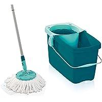 Leifheit Set Clean Twist Disc Mop en Wringer Set, Zonder Voetbediening, Microvezel Hoes en Kliksysteem, 20 liter Emmer…