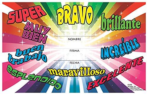 Exclamatory Word Awards Spanish Pack of 36