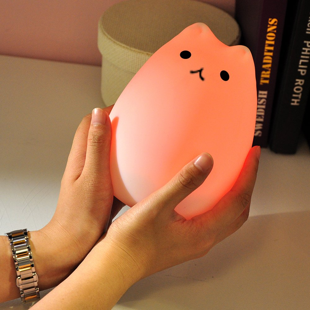 Amazon.com : GoLine Cat LED Baby Kids Night Light, Cute Multicolor ...