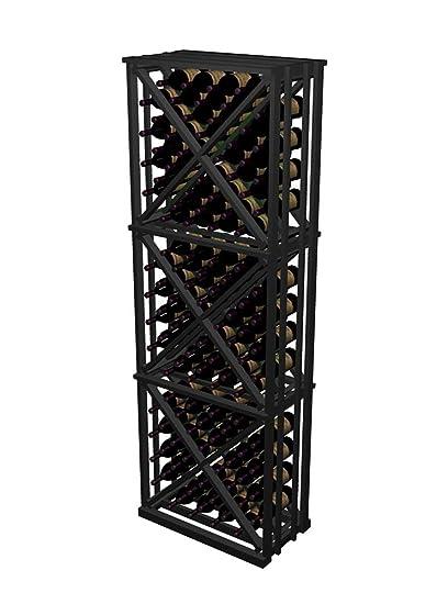Open Wine Rack w Triangular Storage Bins (Redwood with Midnight Stain)  sc 1 st  Amazon.com & Amazon.com: Open Wine Rack w Triangular Storage Bins (Redwood with ...