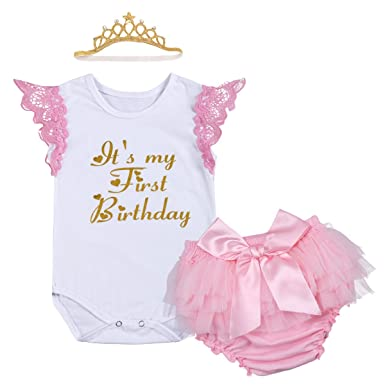 Newborn Baby Infant Toddler Girls It s My 1st Birthday Cake Smash Shiny  Printed Sequin Tutu Princess ac37931eb2d8