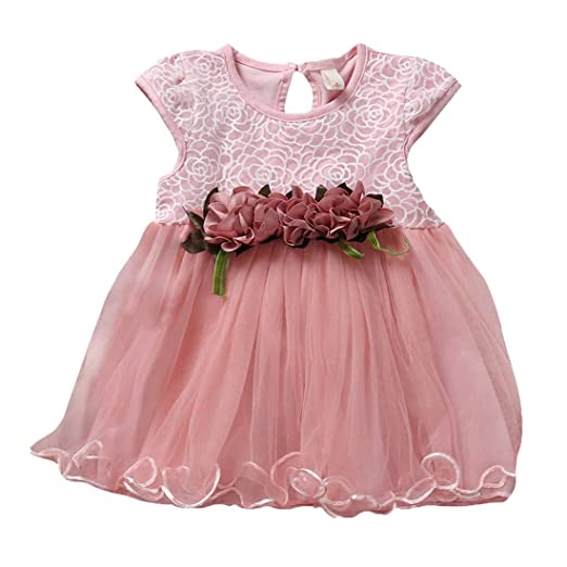 1d42aaa234 Baby Girls Tutu Dresses Kids Clothes Ruffled Floral Girls Tulle Dress for  Wedding Party Photography Special Occasion Summer