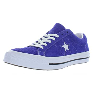 e8427adb37 Converse Womens One Star Ox Suede Fashion Sneakers Purple 9.5 Medium (B,M)