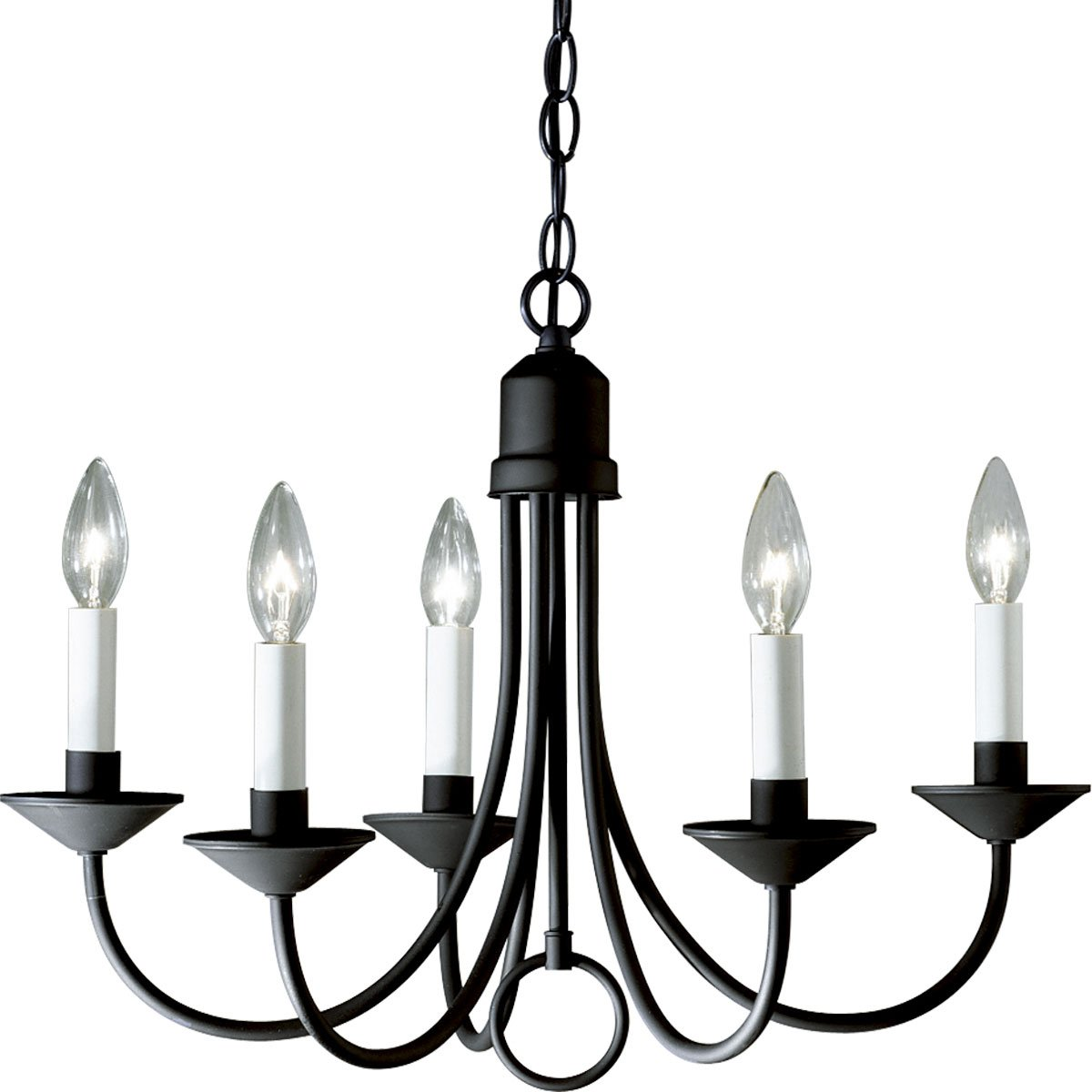 Progress Lighting P400831 5Light Chandelier Textured Black