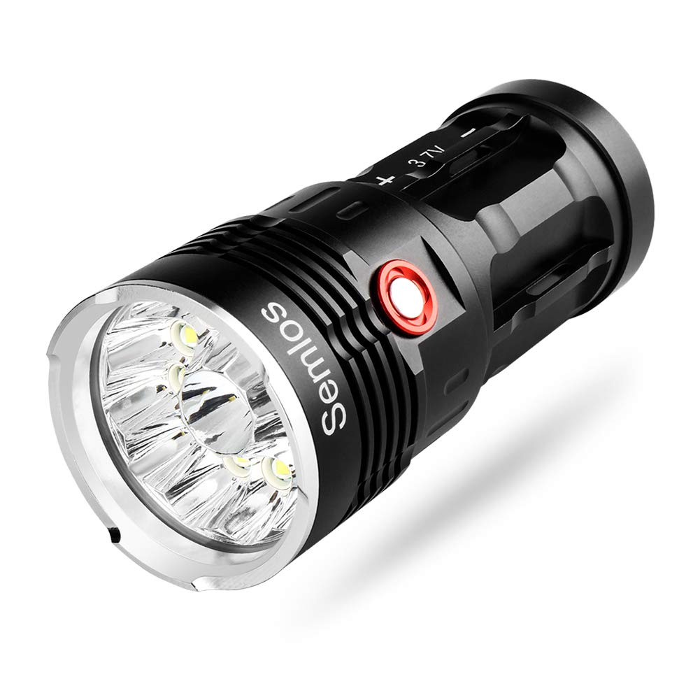 10000 Lumens Flashlight - 12 LEDs Super Bright Rechargeable Flashlights 3 Mode Flashlight Water Resistant, Handheld Flashlights, Best Camping, Outdoor, Emergency, Everyday Flashlights