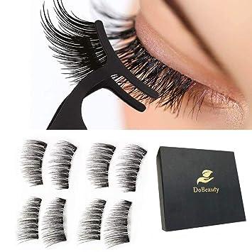 738df75416d Amazon.com : Magnetic Eyelashes 3 Magnets Magnetic Lashes Natural 3D Fake  Eyelashes Magnet Lashes with Eyelashes Tweezers(2 Pairs) : Beauty