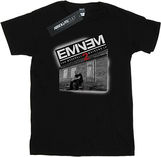 Eminem Mujer Marshall Mathers 2 Camiseta del Novio Fit