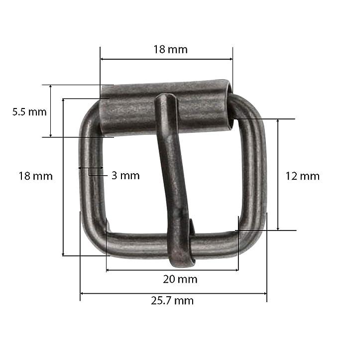 20mm Metal Silver Unisex Buckle Sandal leather Craft Belt Shoe Bag Accessories