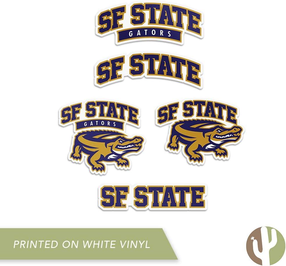 San Francisco State University SFSU Gators NCAA Sticker Vinyl Decal Laptop Water Bottle Car Scrapbook Type 2 Sheet