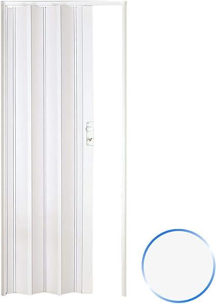 Forte Puerta Plegable de Interior de PVC Blanco 88,5x214 cm Mod ...