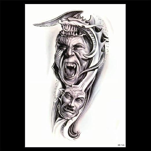 zgmtj Etiqueta engomada del Tatuaje del Diablo Negro Etiqueta ...