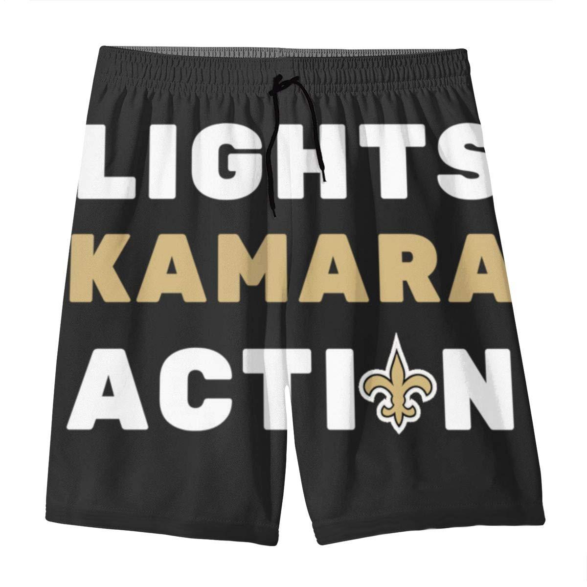 Lights Kamara Action Teens Beach Board Shorts Quick Dry Bathing Suits Swim Trunks Shorts