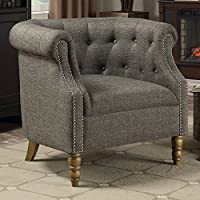Coaster 902696-CO Upholstered Tufted Accent Chair, In Gray