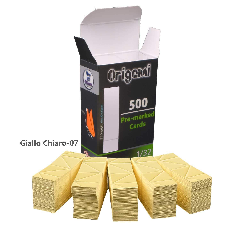 3D Origami'Vormarkierten' Karton 500 Stü ck Linien Rillinien (Ghiaccio 12) Ying 3D Origami